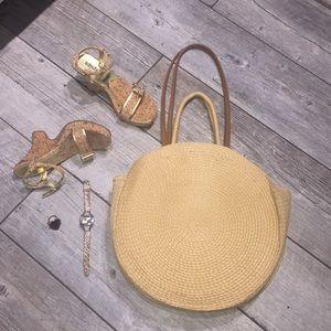 Handbags - Round straw purse TRENDY (restock)